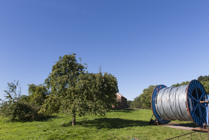 Fibre being rolled out in a rural setting