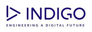 Indigo logo and tagline