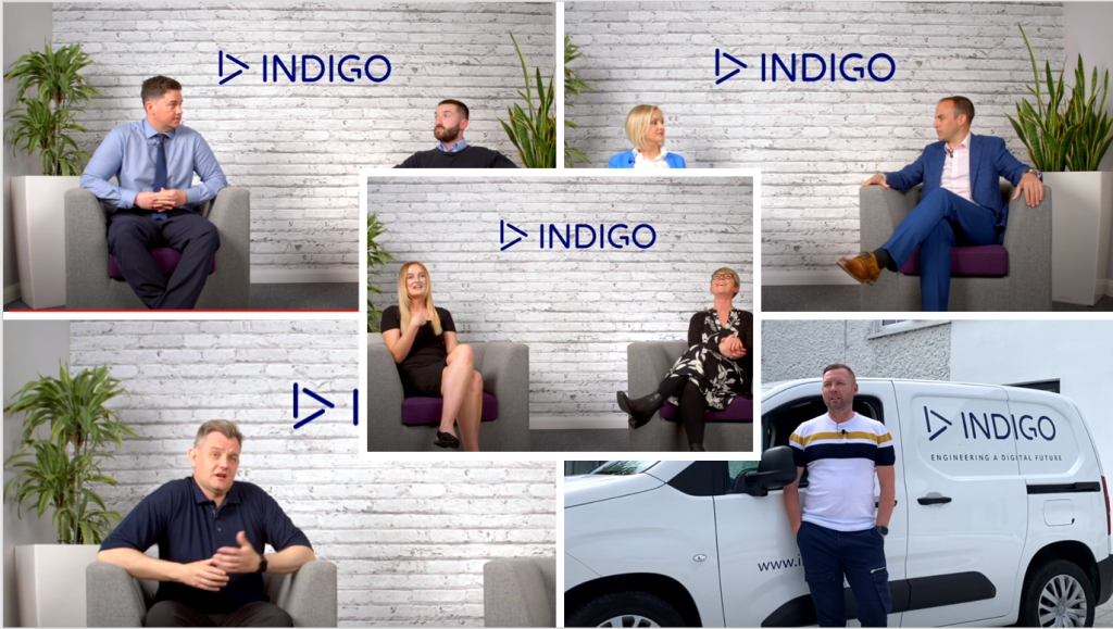Indigo people in the office